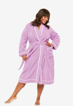 Spa Terry Short Wrap Robe ,