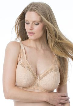Lace banded underwire bra by Goddess®,