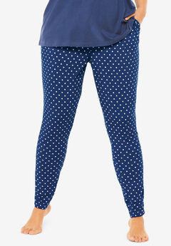 Relaxed Pajama Pant by Dreams & Co.®, EVENING BLUE HEARTS