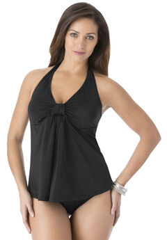 Tankini Halter Top, BLACK