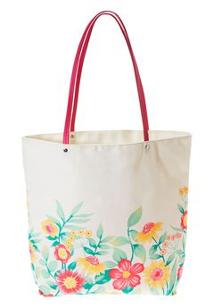 Four Piece Floral Border Tote Set,