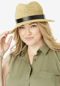 Packable Straw Fedora,