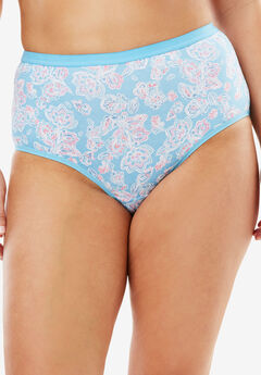 3-Pack Stretch Cotton Full-Cut Brief by Comfort Choice®, CRYSTAL SEA ASSORTED