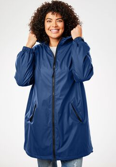 39531c74171 Hooded Slicker Raincoat. Woman Within