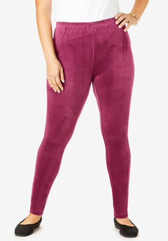 Velour Legging, DEEP CRANBERRY