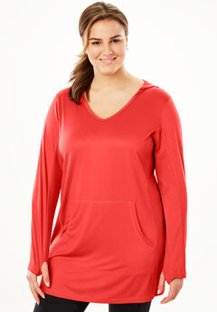 Hooded Active Tunic by FullBeauty SPORT®,