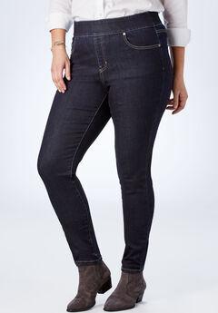 Tummy Tamer Pull-On Straight Leg Jean,