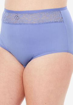 Mesh Insert Microfiber Full Cut Brief by Comfort Choice®, FRENCH LILAC