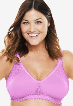 Wireless Lace-Trim T-Shirt Bra by Comfort Choice®,