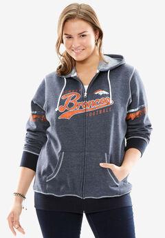 NFL Zip-Up Hooded Sweatshirt, BRONCOS