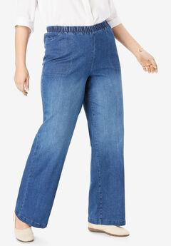 Wide Leg Fineline Jean,