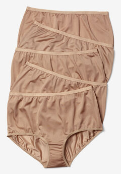 5-Pack Pure Cotton Full-Cut Brief by Comfort Choice®, NUDE PACK