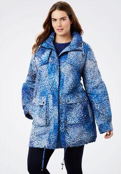 Taslon® Fleece-Lined Parka, BLUE DOT CAMO