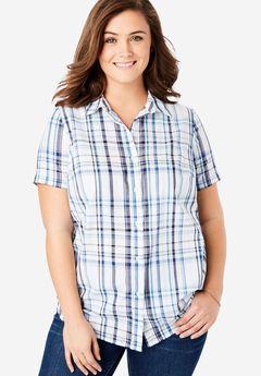 Short Sleeve Button Down Perfect Shirt,