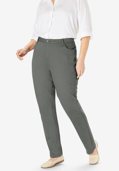 Perfect Straight Leg Jean, OLIVE GREY