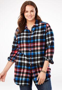 Classic Flannel Shirt, BLACK MULTI PLAID