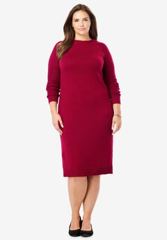 Side-Button Sweater Dress,