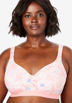 Bottom Band Cotton Wireless T-Shirt Bra by Comfort Choice®,