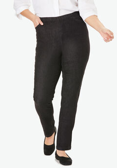 Straight Leg Fineline Jean, BLACK DENIM