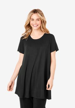 Everywear Essentials™ Scoopneck Trapeze Tunic,