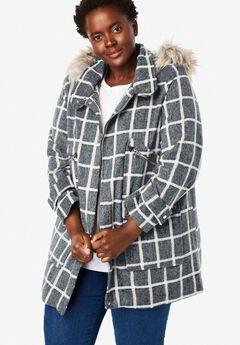 Wool-Blend Duffle Coat,