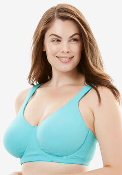 Petal Boost® Underwire Bra by Comfort Choice®, AQUA