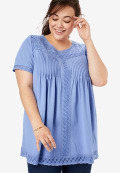 b1fab9c2ce Plus Size Short Sleeve Shirts   Blouses for Women
