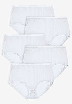 5-Pack Pure Cotton Full-Cut Brief by Comfort Choice®, WHITE PACK