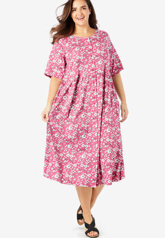 d495cdb192d Button-Front Essential Dress. Woman Within