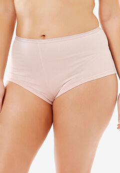 Hipster Stretch Cotton Panty By Comfort Choice®, ROSE NUDE