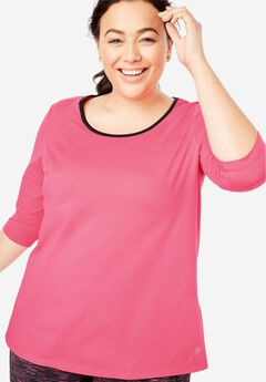 Scoop Neck Tunic by fullbeauty SPORT®,