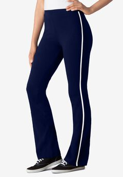 Stretch Cotton Side-Stripe Bootcut Pant,