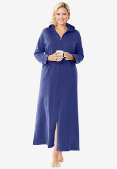 Hooded Fleece Robe , ULTRA BLUE