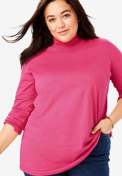 Mock Neck Long Sleeve Perfect Tee,
