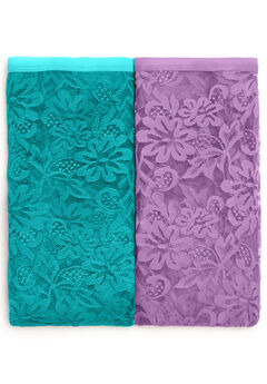 2-Pack Lace Full-Cut Brief by Comfort Choice®, VIOLET JADE PACK