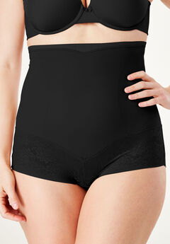 Firm Control Shaping Brief by Maidenform®, BLACK