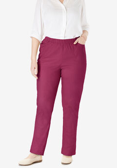 Straight Leg Fineline Jean, DEEP CRANBERRY