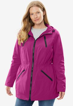 Lightweight Hooded Taslon® Anorak with Mesh Lining,
