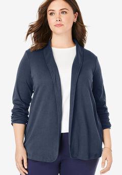 7-Day Knit Jacket, NAVY