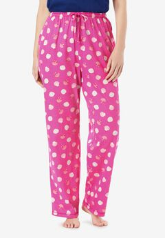Knit Sleep Pant by Dreams & Co.®, PARADISE PINK SHELLS