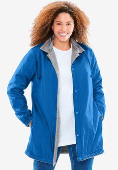 Fleece Nylon Reversible Rain Jacket,