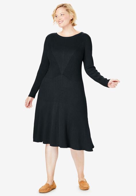 Rib Knit Sweater Dress