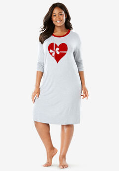 Velour Trim Sleepshirt by Dreams & Co.®,