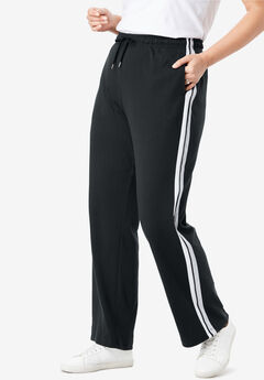 Sport Knit Side-Stripe Pant,