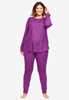 Dreams & Co.® Supersoft Embroidered Lounge Sweatshirt,