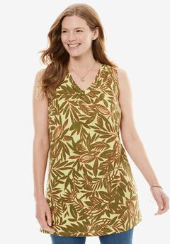 Printed Sleeveless Perfect Tunic,