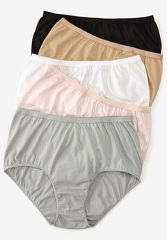 5-Pack Pure Cotton Full-Cut Brief by Comfort Choice®, BASIC PACK