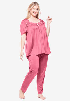 Silky 2-Piece PJ Set by Only Necessities®, DAZZLING PINK
