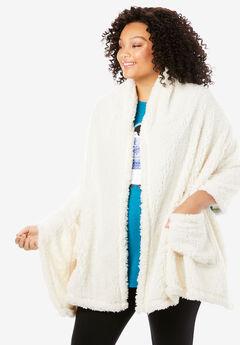 Sherpa Fleece Wrap, VANILLA WHITE