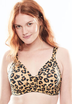 Leading Lady® Brigitte Full Coverage Seamless Underwire Bra #5028, ANIMAL
